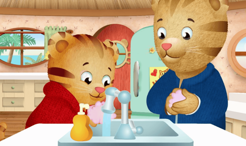Daniel Tiger Hand Washing